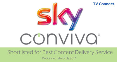Sky and Conviva Shortlisted for TV Connect Award