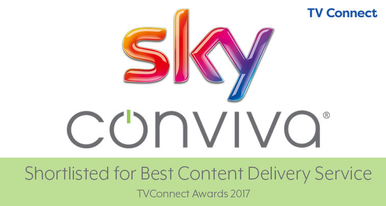 Sky and Conviva's Partnership recognised for the Best Content Delivery Service