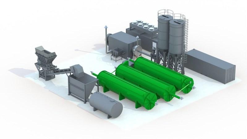 Alchemy TD : 3 Thermophilic Digester configuration with fuel feeding CHP& fertiliser pelleting plant. (PRNewsFoto/Alchemy Utilities Ltd)