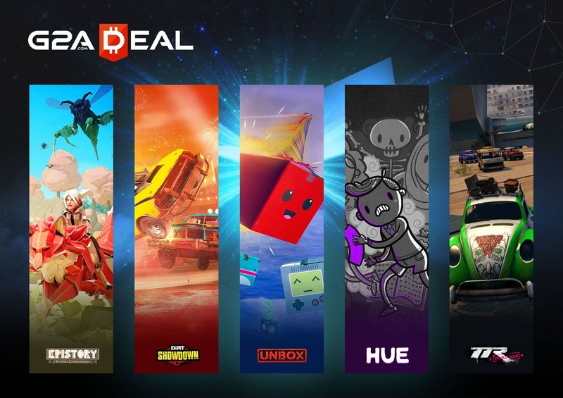 The second edition of G2A Deal launches on March 30th and includes Epistory - Typing Chronicles, DiRT Showdown, Unbox, Hue, and Table Top Racing: World Tour. (PRNewsFoto/G2A.com)