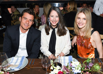 Orlando Bloom, Ann-Sofie Johansson, Natalia Vodianova at the H&M Conscious Exclusive dinner in L.A