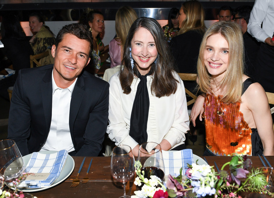 Orlando Bloom, Ann-Sofie Johansson, Natalia Vodianova at the H&M Conscious Exclusive dinner in L.A