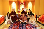 Top (left to right): HH Karmapa and his parents HE Mipham Rinpoche, Dechen Wangmo  Bottom (left to right): Rinchen Yangzom and her parents Mr Chencho, Mrs Kunzang (PRNewsFoto/Private Office of 17th Karmapa)