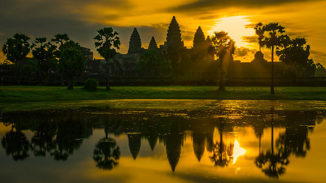 Sunrise at Angkor Wat is a breathtaking experience.