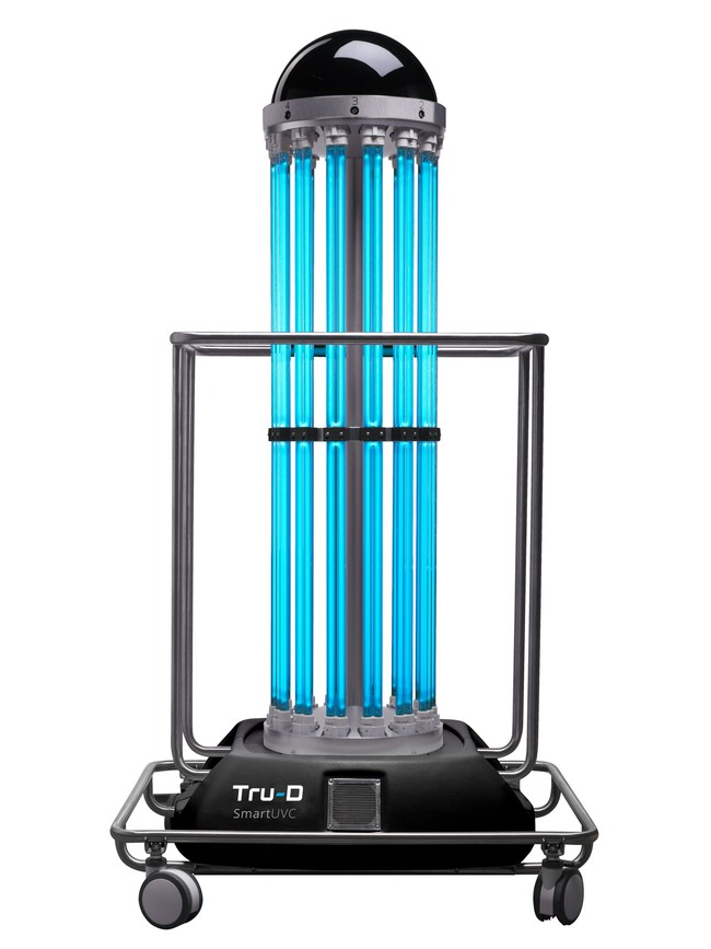 Tru-D SmartUVC, a C. diff fighting UV disinfection robot