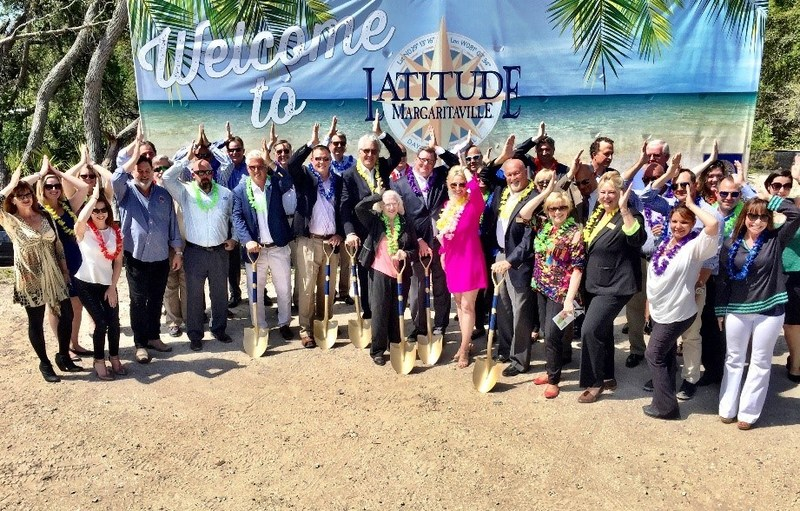 Minto Communities and Margaritaville Holdings Teams Mark Arrival of LATITUDE MARGARITAVILLE in Daytona Beach, FL with Fins Up