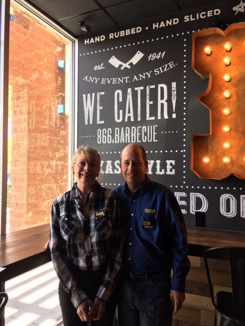 Nathan and Laura Pomeroy open Dickey's in Scottsdale on March 30