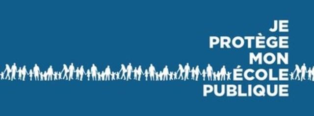 Logo : Je protège mon école publique (Groupe CNW/Je protège mon école publique)