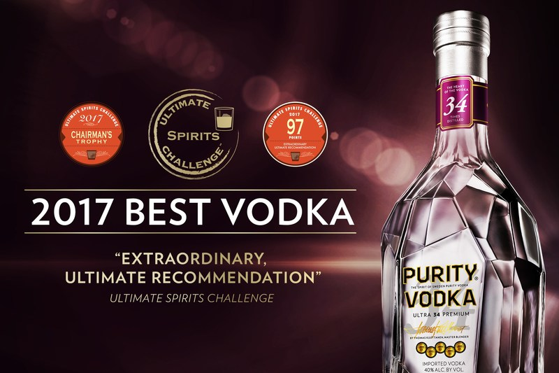 PURITY VODKA IS TOP RATED AND NAMED BEST UNFLAVORED VODKA AT THE 2017 ULTIMATE SPIRITS CHALLENGE