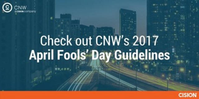 Learn more about CNW's guidelines for April Fools' Day news releases. (CNW Group/CNW Group Ltd.)