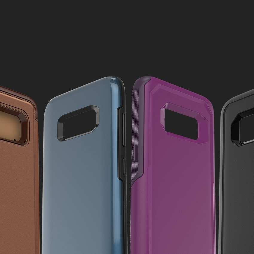 OtterBox cases for Galaxy S8 and S8+ are available now on otterbox.com.