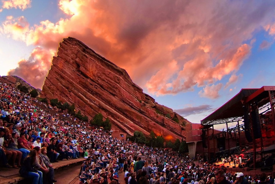 Red Rocks Amphitheatre, located just outside of Denver, Colorado. Photo courtesy of Denver Arts & Venues. Photo by Stevie Crecelius.