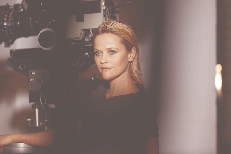 Reese Witherspoon behind the scenes at her first photo shoot with Elizabeth Arden as the brand's new Storyteller-in-Chief.
