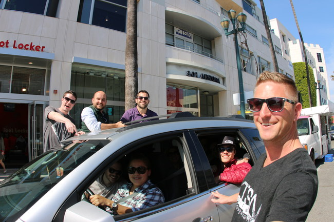 The TSN fam gets picked up outside HQ by Priscilla from Lyft!