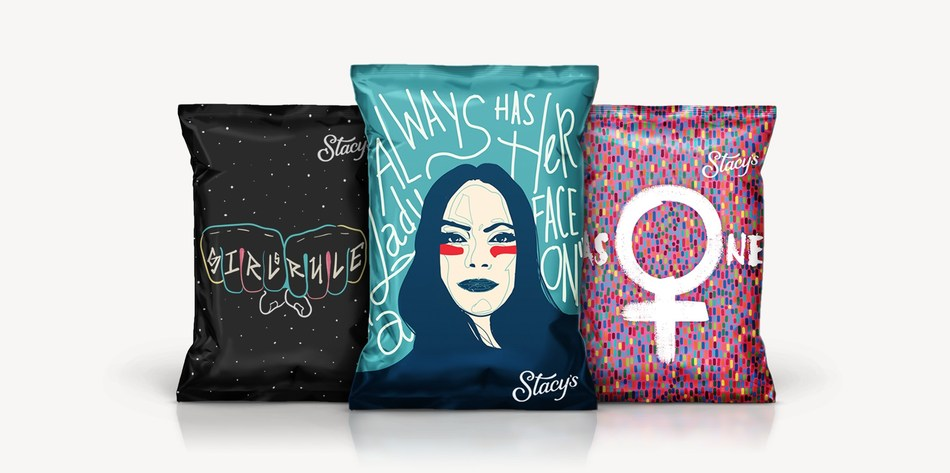 "The three ""Stacy's Stands With You"" winning bag designs."