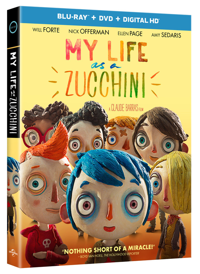 "2016 Oscar® Nominated Film Featuring The Voices Of Will Forte, Nick Offerman, Ellen Page And Amy Sedaris: ""My Life As A Zucchini"""