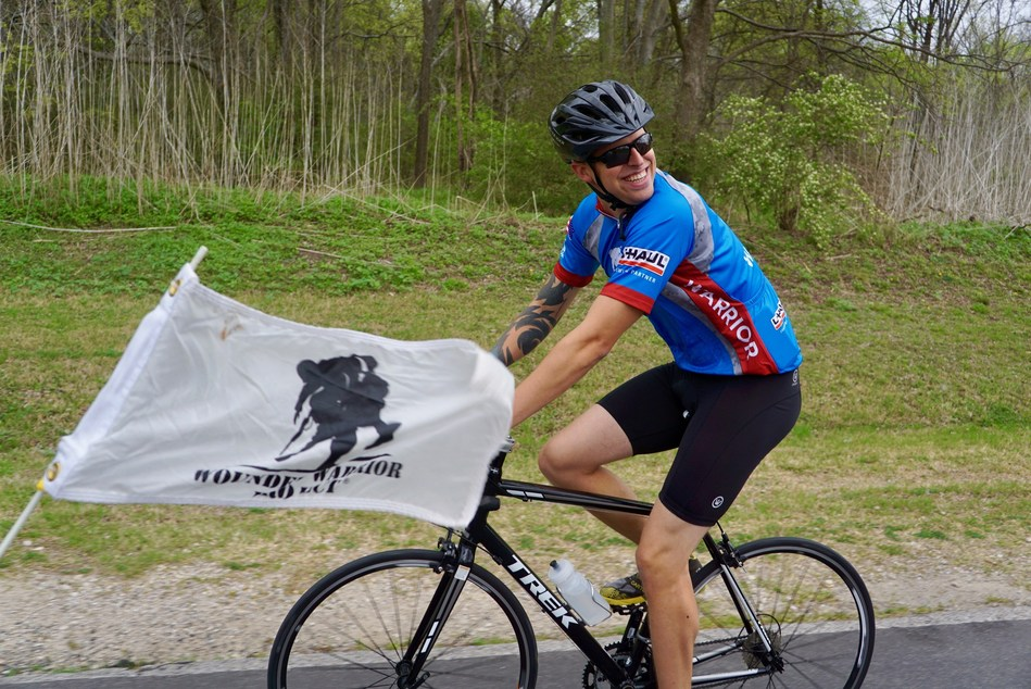 Veterans enjoyed an afternoon of bike riding at an event hosted by Wounded Warrior Project.