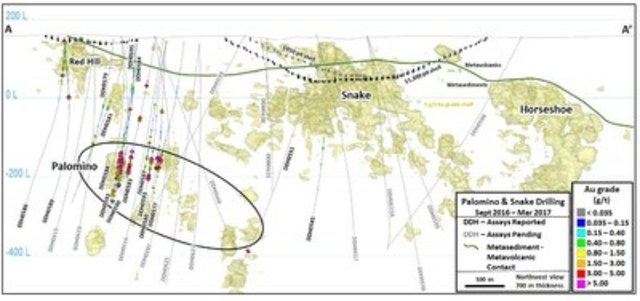 Figure 2 – Haile Gold Mine Long Section – Looking Northwest (CNW Group/OceanaGold Corporation)