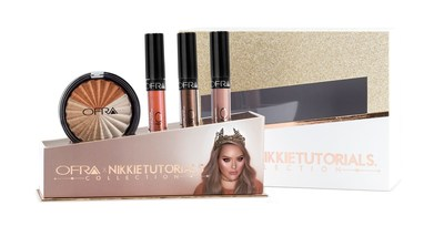 OFRA x NIKKIETUTORIALS Limited Edition Collection featuring three luscious liquid lipsticks and one super pigmented highlighter trio. A collection perfect for every skin tone to dare you to do your makeup in a whole new way.