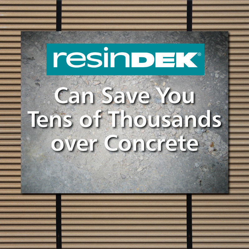Install ResinDek(R) floor panels instead of concrete and save tens of thousands of dollars