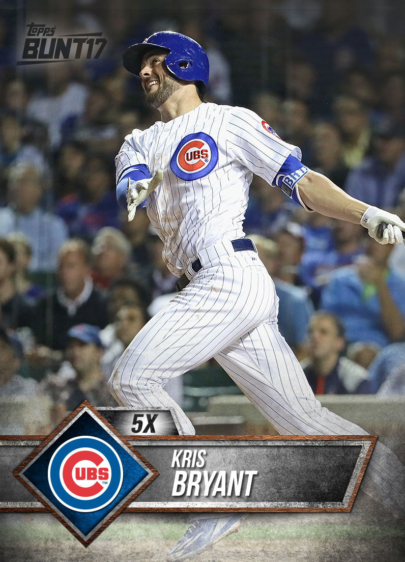 National League MVP Kris Bryant to be featured as the cover athlete for Topps MLB BUNT 2017