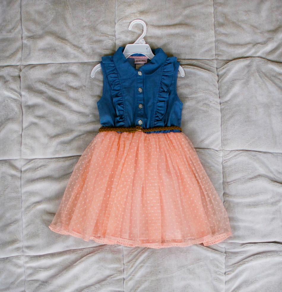 Little Lass Denim Dress: $12.99 in select Clubs