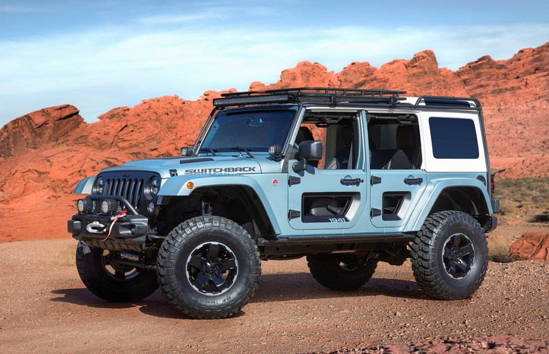 The Jeep Switchback is one of several new concepts the Jeep and Mopar brands have created for the 51st Easter Jeep Safari in Moab, Utah, next month.