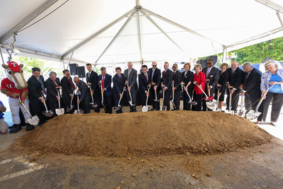 The Cordish Companies and the Texas Rangers joined Arlington Mayor Jeff Williams, Arlington City Council, and community and business leaders from Tarrant County and the City of Arlington to celebrate the groundbreaking of Texas Live!. The project is part of a greater $4 billion vision for the Arlington Stadium District that includes the Rangers new $1 billion ballpark and the preservation of Globe Life Park and will set a gold standard for sports and entertainment districts across the country.