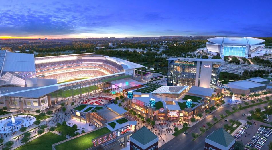 The ceremony for the $250 million world-class development was held on the project site in Arlington, TX - a location that will house over 200,000 square feet of best-in-class restaurants, retail and entertainment, a 5,000-capacity outdoor event pavilion, an upscale full-service, 300-room convention hotel and 35,000 square feet of meeting/convention space upon opening.