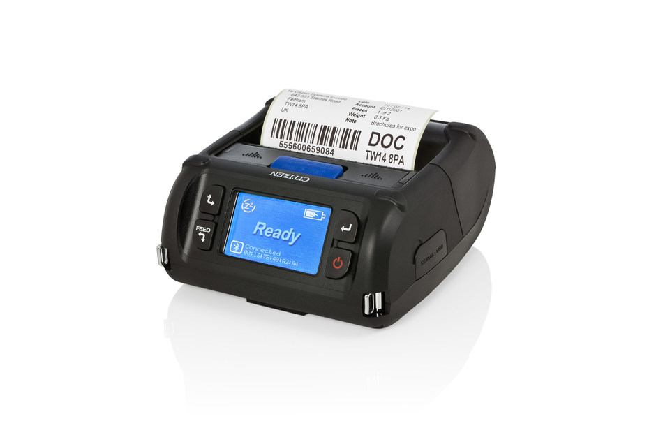 Citizen's NEW 4-inch mobile label printer, CMP-40L.