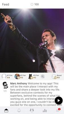 Marc Anthony Launches Mobile App via escapex Platform