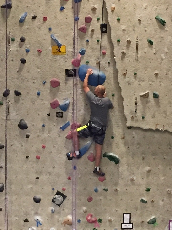 Wounded Warrior Project hosted an indoor rock climbing event for wounded veterans in Colorado.