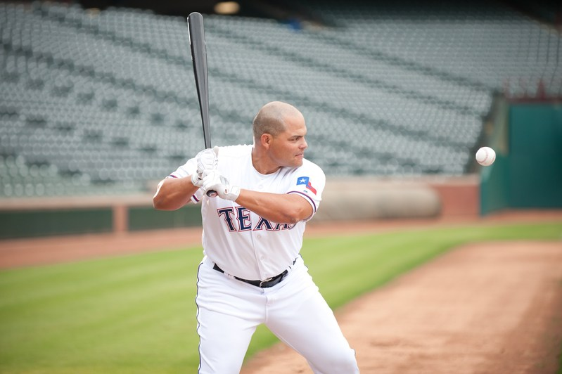 """Legendary Texas Ranger and Hall of Famer, Ivan """"Pudge"""" Rodriguez has again teamed up with Papa John's for the RANGERS7 pizza deal."""