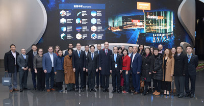 The American Economic and Trade Delegation Visits Suning Headquarters
