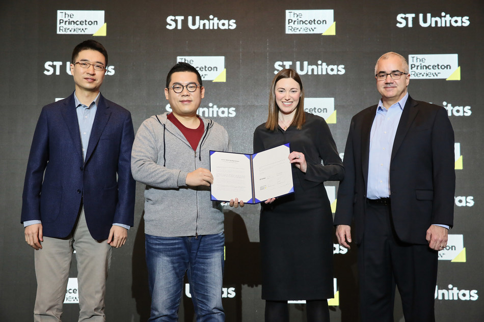 The Princeton Review Announces Completion Of Acquisition By ST Unitas. Jung Jin Lee, CEO ST Unitas; Sung Hyuk Yoon, CEO/Founder ST Unitas; Kate Eberle Walker, CEO The Princeton Review; Anthony Pane, CFO The Princeton Review