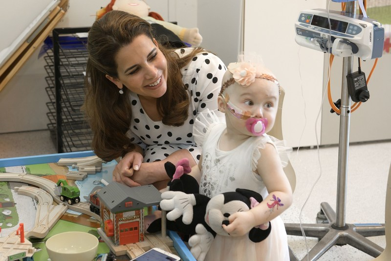 HRH Princess Haya visiting Canberra Children's Hospital (PRNewsFoto/The Office of HRH Princess Haya)