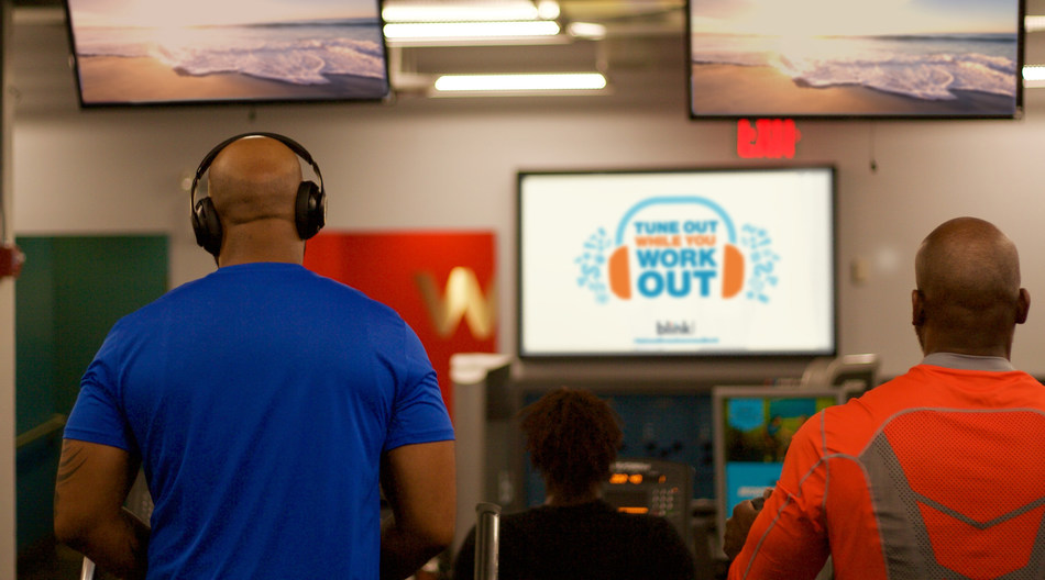 """To raise awareness of the importance of mental health during National Stress Awareness Month, Blink Fitness has launched """"Tune Out While You Work Out,"""" an initiative to encourage members to minimize stress and focus on themselves."""