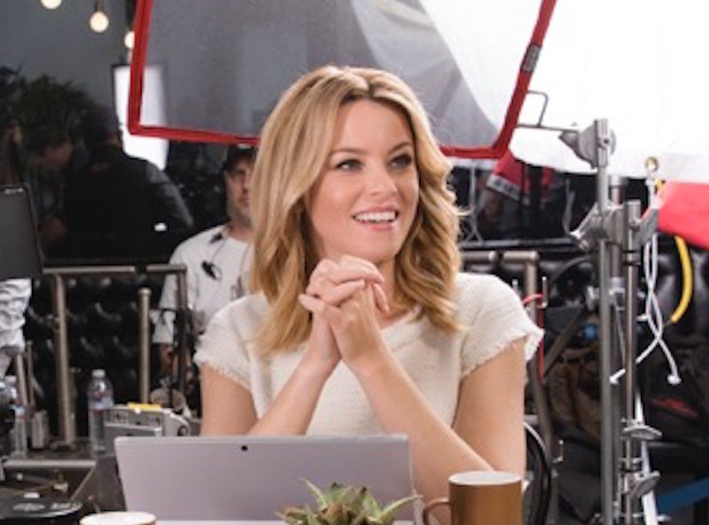 Elizabeth Banks bringing humor to the set of the realtor.com ad campaign.