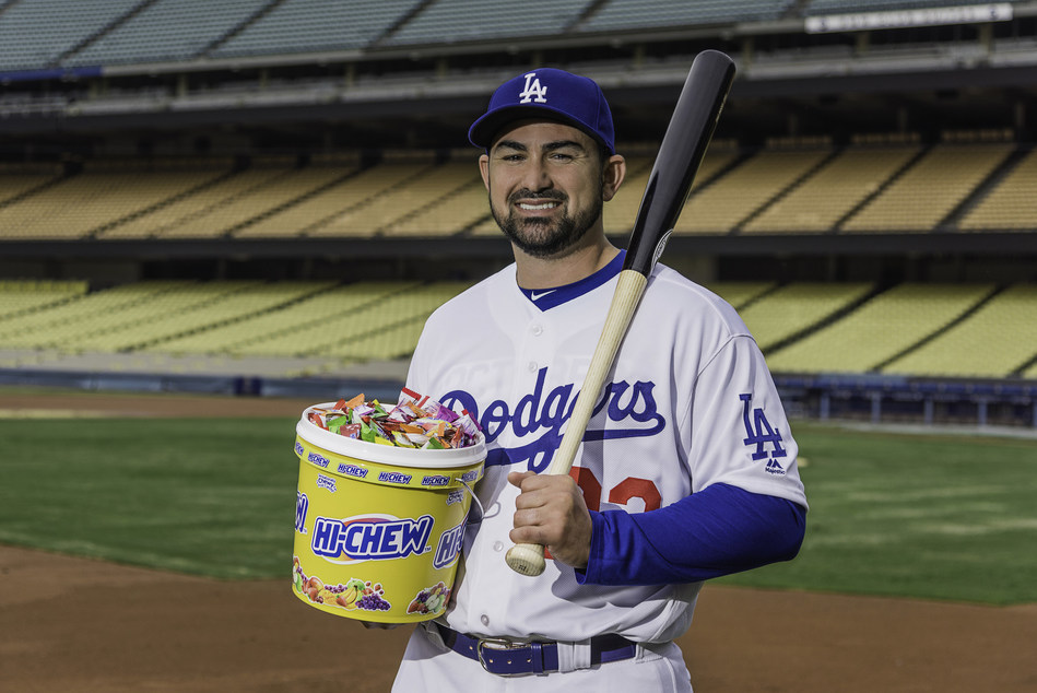 Hi-Chew teams up with the Los Angeles Dodgers to deliver flavorful moments all season long. (Pictured: Adrian Gonzalez, first baseman)