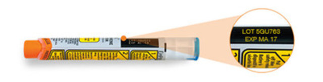 Photo of EpiPen 0.3 mg. The recalled products were distributed by Pfizer Canada from January to March 2016. (CNW Group/Pfizer Canada Inc.)