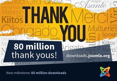 Joomla! 80+ million downloads and growing.