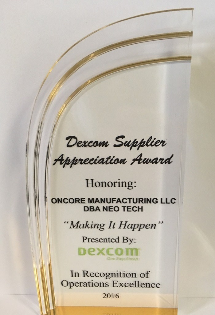NEO Tech Honored with Given Dexcom Supplier Appreciation Award