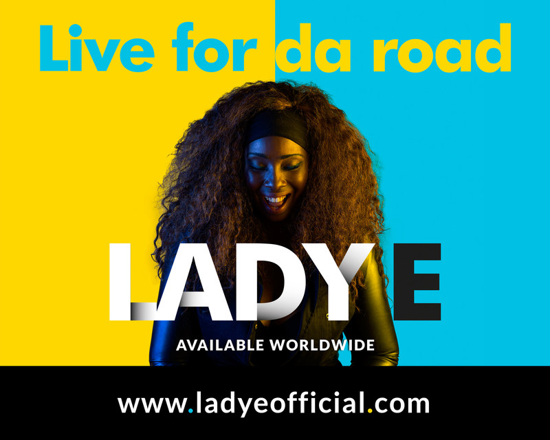 "Bahamian artist Lady E on the cover of her new single record ""Live for Da Road"" remix, which dropped on Friday March 31st. ""Live for Da Road"" captures the spirit of the Bahamas Junkanoo Carnival and its infectious rhythms: Every time someone visits her website and plays the song, someone in the Bahamas will dance."