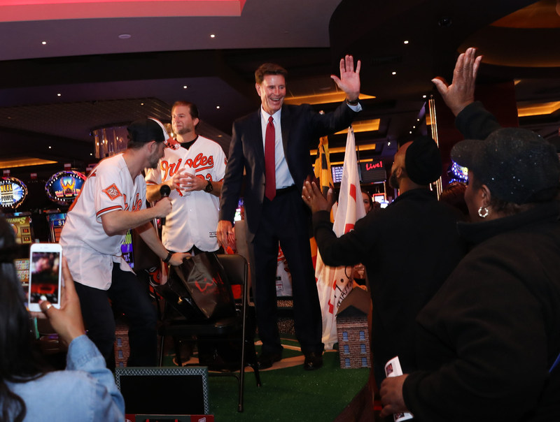Live Casino & Hotel in Hanover, MD, hit a home run with a spontaneous Baltimore Orioles ticket giveaway on the casino floor with Orioles Hall of Fame pitcher Jim Palmer.