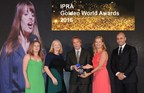 """The team from FleishmanHillard celebrate their 2016 Grand Prix for the """"Philips Breathless Choir"""" a group of 18 people for whom breathing is a constant challenge and how they learnt to sing. https://www.youtube.com/watch?v=E2A-nVYhP_0 (PRNewsFoto/www.ipra.org)"""