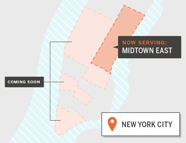 Munchery lunch availability map