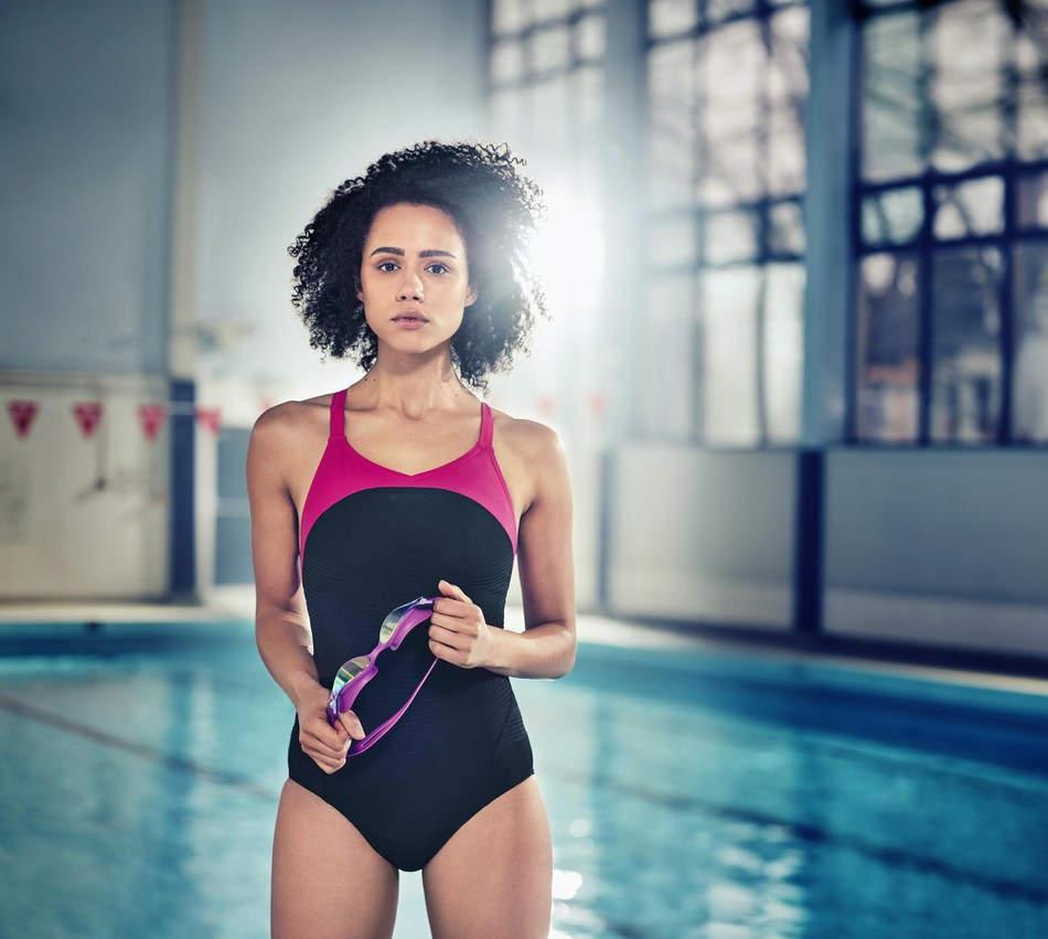 Speedo ambassador and global actress Nathalie Emmanuel (PRNewsFoto/Speedo International)