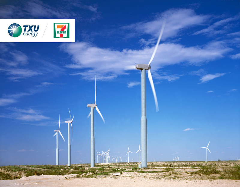 7-Eleven, Inc. has signed an agreement with TXU Energy to purchase 100 percent Texas wind energy for all its Texas stores located in competitive energy markets.