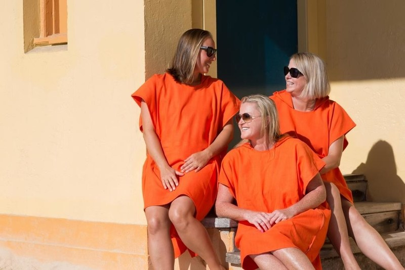 LOLL Apperitivo Before Dinner turkish towel poncho for adults - wear it like a poncho or lie on it like a towel