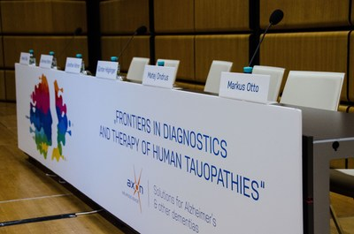 "AXON Neuroscience's symposium called ""Frontiers in diagnostics and therapy of human tauopathies"" was held on April 1, 2017 at the 13th International Conference on Alzheimer's & Parkinson's Diseases (AD/PD 2017) in Vienna, Austria. (PRNewsFoto/AXON Neuroscience)"